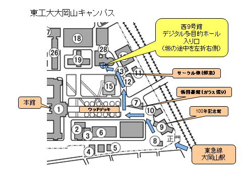 大岡山地図